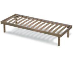 Somier con estructura y 14 láminas de madera pou una mayor duración | ORANGE - 80x190 cm