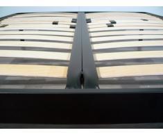 SOMIER XXL de ortopédico extra fuerte Marco de acero con listones de 14 Madera Laminada H35 cm – 80 x 190 | Tecna Plus
