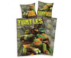 De tortugas Ninja de 100% algodón juego de funda de edredón de cama de