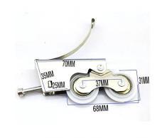 YUANQIAN Kit de polea deslizante de acero inoxidable para puerta de armario, polea de aleación de titanio, barra de luz, puerta corredera, doble rueda