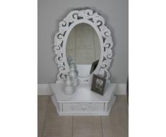 elbmöbel.de - Tocador con espejo (estilo rústico), color blanco