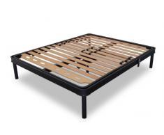 Somier XXL reforzado con listones de madera de haya y control eléctrico/Tecna 160 x 190 cm