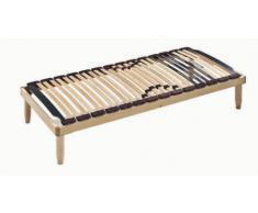 Somier multiláminas con estructura y 28 láminas de madera con reguladores lumbares | LEMON - 80x190 cm