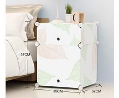 Global-DIY Gabinete de cabecera simple Simple y moderno Mini armario de resina creativa Armarios de almacenamiento ensamblado con puertas, mesita de noche para niños ( Tamaño : 39*37*57cm )