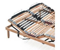 EvergreenWeb - Somier ergonómico con soporte de movimiento eléctrico motorizado y mando a distancia, formado por láminas de madera natural de haya, ecológico, motor silencioso alemán, 5 articulaciones de altísima calidad