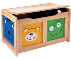 Pintoy 6001905 - Baúl para juguetes de madera natural, varios colores