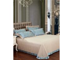 GAOHAIFQ®,venta flash de la ropa de cama de tela del lecho de seda verde homenaje de textiles para el hogar dormitorio nueva regalos del año 4pcs , queen