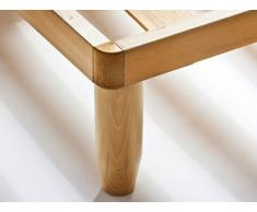 Baldiflex autoenfoque único somier ortopédico de madera haya 120 x 195 cm tipo Apollo