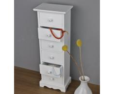 elbmöbel.de - Cómoda de madera (tamaño grande, diseño vintage), color blanco