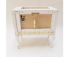 Mesilla de noche de madera estilo industrial. Mesitas de noche originales. Materiales reciclados Mesita de noche de madera Caja de embalaje.
