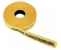 """Triuso ruta marcado cinta de advertencia cinta amonestadora somier articulado de la cinta de la cabeza de la cinta de la cinta de seguridad copia de seguridad de cinta 40 mm x 250 M """"respeto de cable de alta tensión"""" - amarillo"""
