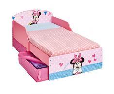 Disney 516MIS - Cama infantil con espacio de almacenamiento debajo de la cama con diseño Minnie Mouse, color rosa