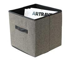 Box and Beyond 32004 - Cesta de almacenaje (tela de tweed, 31 x 31 x 31 cm)