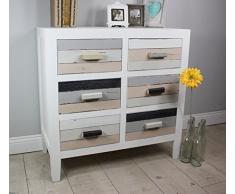 elbmöbel.de - Aparador (madera de aspecto envejecido), color blanco, negro, marrón y otros colores