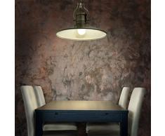 Relaxdays - Lampara colgante, estilo industrial, zócalo E27, Altura de lampara regulable