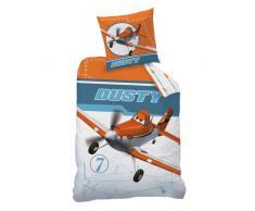 CTI Disney - Juego de cama infantil, diseño de Dusty de Planes, 100% algodón, multicolor, 135 x 200 cm