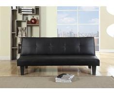 Birlea Franklin sofá cama tapizado, color negro