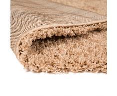 """Alfombra peluda alfombra signicase 5 cm largo - suave y cálido - sala de estar/Dormitorio para colgar, polipropileno, beige, 60x110cm (2'0""""x3'6"""")"""