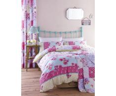 Catherine Lansfield Gypsy Patchwork - Juego de funda de edredón y fundas de almohada (230 x 220 cm, algodón), diseño de retales, multicolor