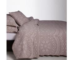 Burrito Blanco - Colcha jacquard sin acolchar 120 para cama 150x190/200 cm, color lino
