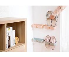 Montado en la pared zapatos Rack glodenbridge creativo plástico hogar zapatos Soporte de estante, Sticky zapato de almacenamiento organizador colgante estante de almacenamiento de zapatos.