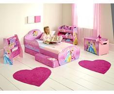 Disney Princesas Infantil con Espacio de Almacenamiento Debajo de la Cama, Madera, Rosa, 63.00x77.00x143.00 cm