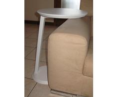Mesa auxiliar mesa bajo redondo Servetto diseño moderno salón sofá