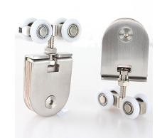 Rueda de Puerta Corredera armario ruedas de nailon para colgar piezas de rueda puerta rodillos puerta Hardware