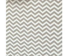 InterDesign Chevron - Almacenamiento blando/estante colgante con 2 cajones, color gris topo y natural