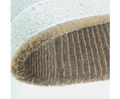 Just Contempo cuadrados alfombra de lana, beige, 75 x 150 cm
