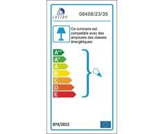 Lucide 08406/23/35 Coco - Lámpara de techo colgante (E27, 19 x 23 cm), color azul