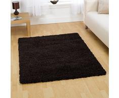 """Alfombra peluda alfombra signicase 5 cm largo - suave y cálido - sala de estar/Dormitorio para colgar, polipropileno, negro, 120x170cm (4'0""""x5'6"""")"""