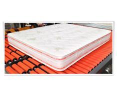 Ailime - Colchón para cama, algodón y poliuretano, 140 x 190 cm piezas, color blanco