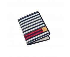 Lässig Casual Carpeta organizadora Striped Zigzag azul marino