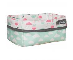 Bebe Jou Luma® Babycare Cesta de tela Design: Blush Baby en rosa flamingo