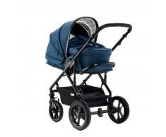 Moon Cochecito combinable Lusso Set City 990 azul