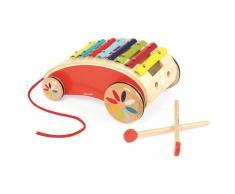 Janod ® Juguete de madera para arrastrar - Xilófono