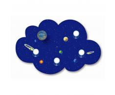 Waldi Lámpara nube planetas, azul 4 bombillas