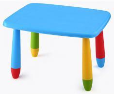 Mesa infantil desmontable, Rectangular, para niños Azul