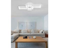 Moderna lámpara LED de techo para salón, regulable, pantalla de acrílico, lámpara de techo de diseño cuadrado, lámpara de comedor con mando a distancia, lámpara de techo, lámpara colgante, cocina