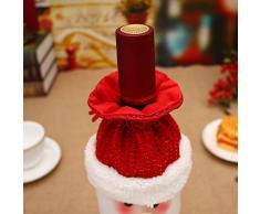 Ruikey Cena de Navidad Bolsa de cubierta de botella de vino bolso del abrigo de la botella de Santa Champagne para la decoración de la mesa del restaurante de la celebración de días festivos