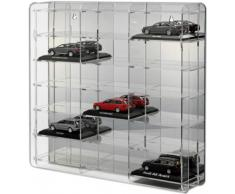 Vitrina para coches de escala 1:43 [SO-10810] Vitrina acrílico con pared dorsal reflectante, negro o transparente
