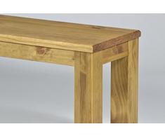 Brasil Muebles Banco 'Rio Classico' 100 cm, madera maciza de pino, color Brasil