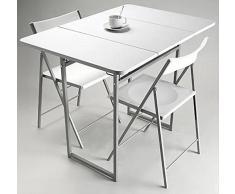 Pack Completo de Mesa Plegable + 2 Sillas Blancas - Selección Concept