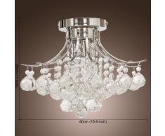 ALFRED Moderna Candelabro de Cristal con 3 Luces (acabado cromado),Techo luz,montaje empotrado,Bedroom, Living Room