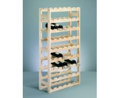 Zeller 13165 Botellero para 54 Botellas, Pino, 67.5 x 25 x 118 cm, Marrón