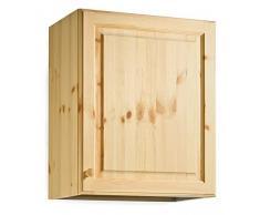 Armario pared escurreplatos - madera de pino - 60x72x35 - color nogal