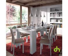 Habitdesign 004580BO - Mesa de comedor consola extensible hasta 235 cm, acabado blanco brillo