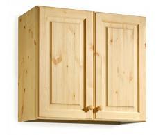 Armario pared escurreplatos - madera de pino - 80x72x35 - color miel