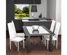 TecTake Set de 4 sillas de comedor 41x45x98,5cm blanco